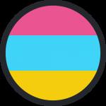 Rainbow with black