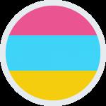 Rainbow with white